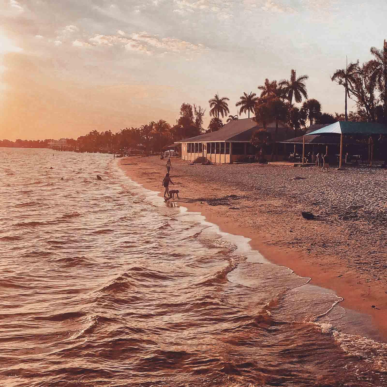 Blick auf das Meer in Florida