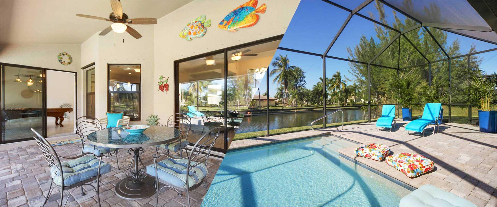 Beispiel für einen Lanai und einen Cage mit Pool